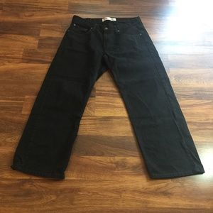 Levi's 550 Mens Huskey 34/28 Black Relaxed Jeans